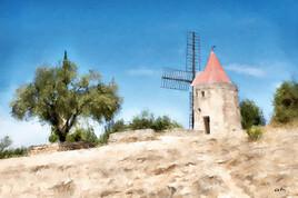 paysage de Provence le Moulin de Daudet