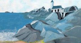 Bretagne (étude en bleu)