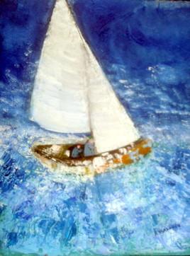 le petit bateau dans la tempête