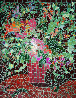 bouquet en mosaïque