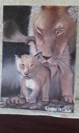 La lionne et son lionceau
