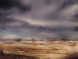 Peinture Ciel d'orage