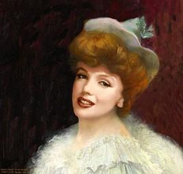 Le bal masqué d' Albert Lynch revisité par Marilyn.. ( 1860- 1950)
