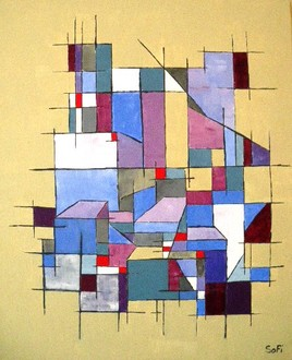 Cottin artiste for Abstraction geometrique