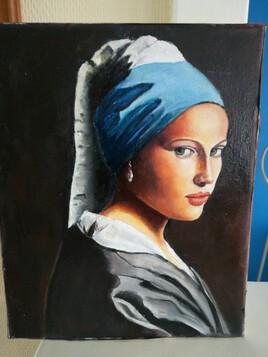 Femme au turbanhuile sur toile