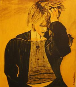 Femme au visage jaune