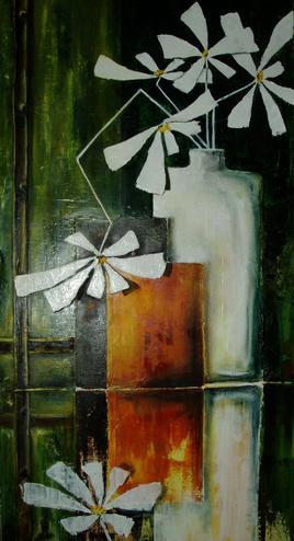 reflet de fleurs