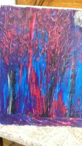 Abstrait forêt  bleue