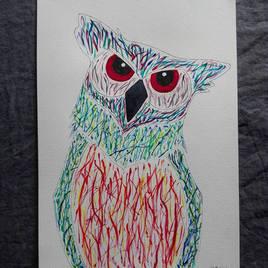 ''L'hiboux aux yeux rouge''