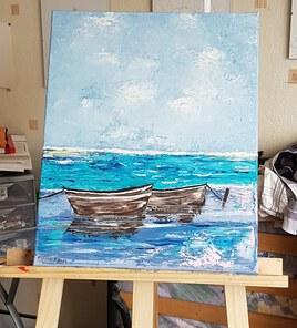 Les bateaux et la mer