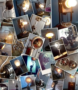 Lampes objets metal recyclés