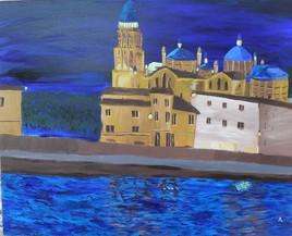 La cathédrale Saint Front de nuit.