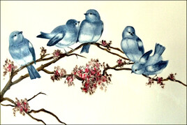 Blue-birds.