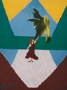 La fille et l' oiseau