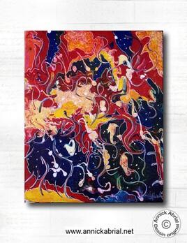 Tableau abstrait Tourbillon