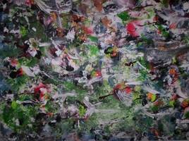 ELIE BERNARD ACRYLIQUE ART ABSTRAIT ORIGINALE SUR TOILE 88X90