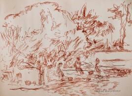 Partie de pêche à l'étang de Sandun
