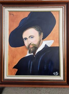 Copie Acrylique de l'autoportrait de RUBENS