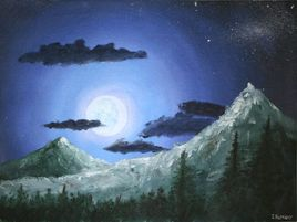 Moonlight & Mountains