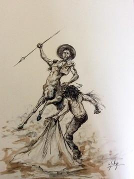 Minotaure et centaure.