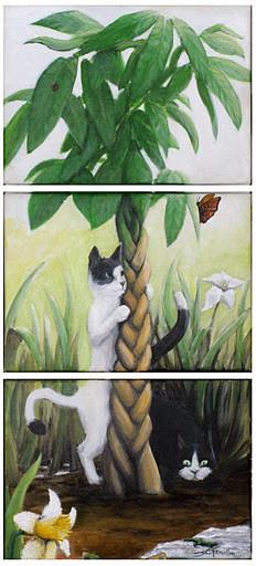 triptyque des chats manichéens
