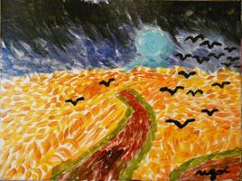 Inspiration V. Gogh (j'ai peint ce tableau à 7 ans)
