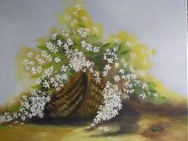 Panier de marguerites