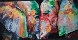 Éléphants jumeaux