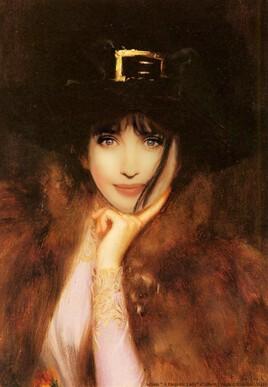Isabelle Adjani dans une peinture d'Albert Lynch .