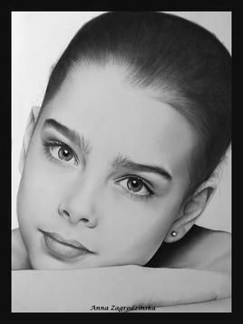 Dessin, portrait en noir et blanc