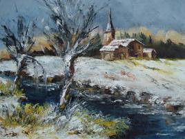 Eglise en hiver