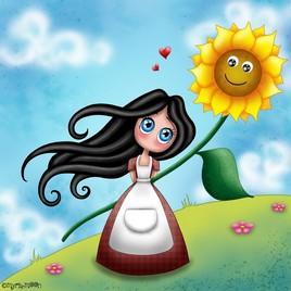 Aime-Moi et le tournesol by Myria-Moon