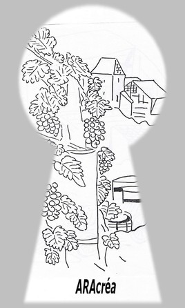 vignoble d'Alsace - dessin