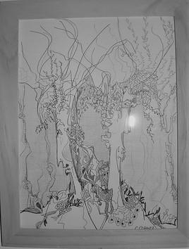 Colère crayon et stylo 17x23cm