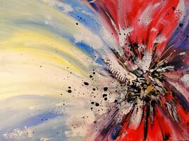 Floressence, peinture abstraite contemporain