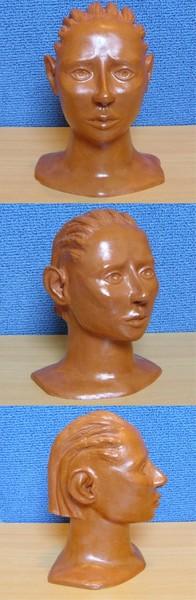Sculpture en argile, vernis a la gomme-laque ( sculpture numéro 5 )