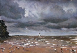 Bord de mer avant l'orage