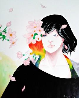 femme et fleurs 2