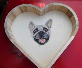 Plateau coeur de chien Ollie