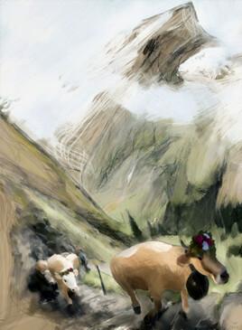 Montée à l'Alpage