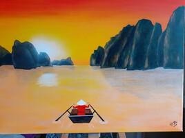 Pêche dans la baie d'Halong