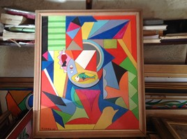Peinture abstrait acrylique