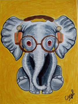 Elephanteau avec casque