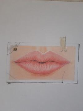 Bouche  crayons de couleurs