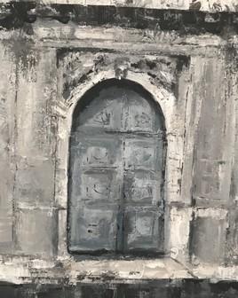 Vieille porte en Sicile
