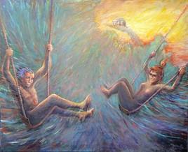 Les Balançoires. (Hommage à Goya.)