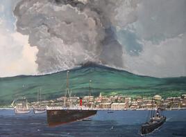 L'éruption de la Montagne Pelée.