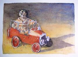 Clémence et la voiture