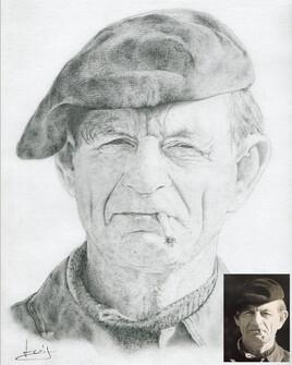 Dessin de portrait de Bernard, mon grand-père