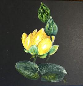 Eclat d'or - Acrylique sur petite boite